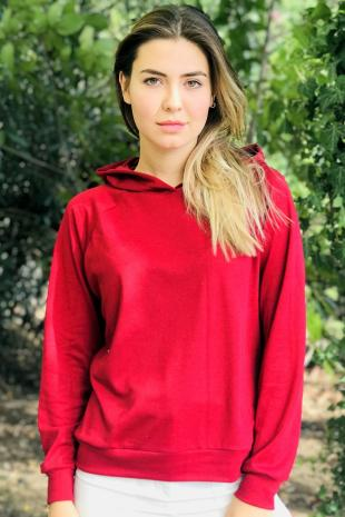129234-9344 Kapsonlu Sweat/Bordo
