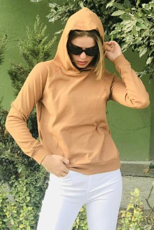 129234-9344 Kapsonlu Sweat/Camel